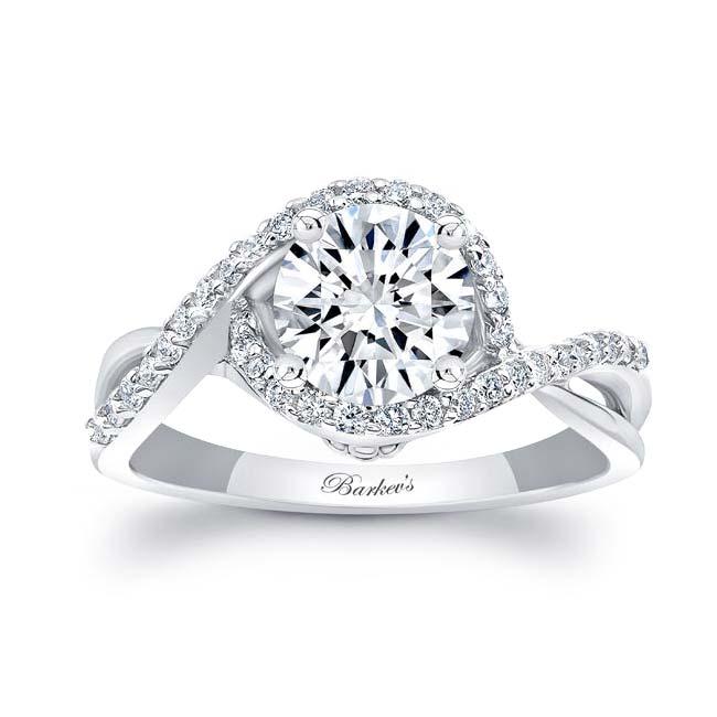 Twisted Halo Engagement Ring Image 1