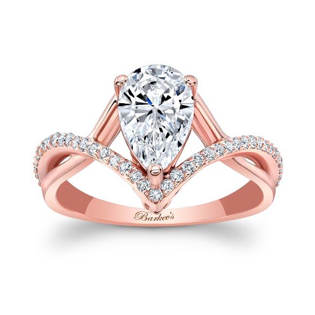 Unique Pear Shaped Engagement Ring Image 1