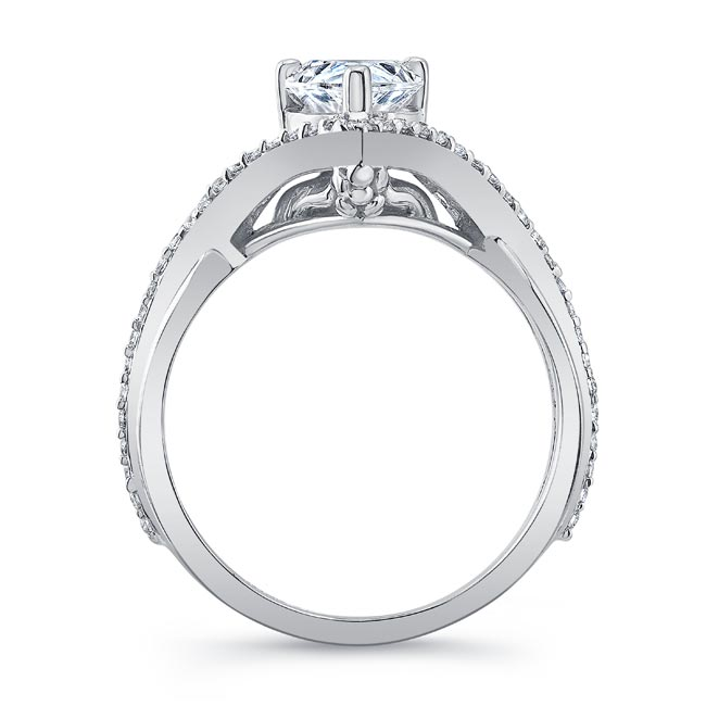 Unique Pear Shaped Moissanite Ring Image 2