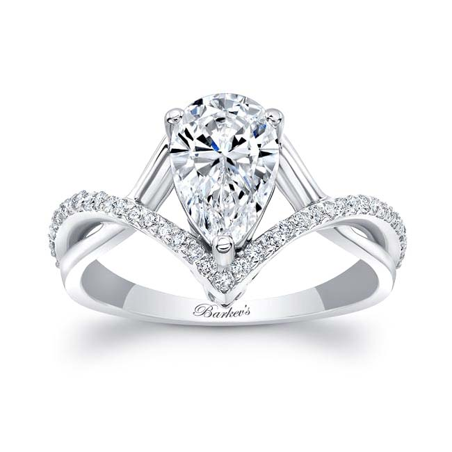 Unique Pear Shaped Moissanite Ring Image 1