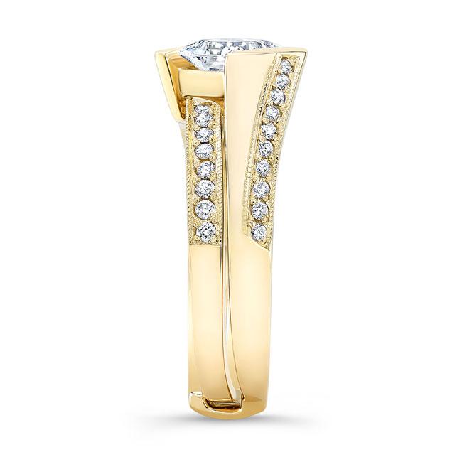 Princess Cut Diamond Bridal Set 8181S Image 3