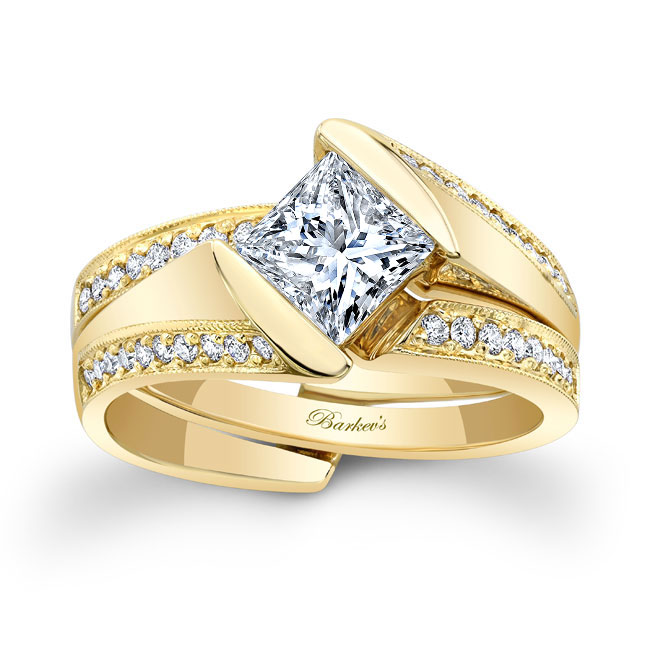 Princess Cut Diamond Bridal Set 8181S Image 1