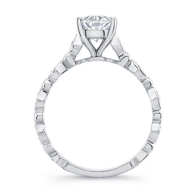 Art Deco Oval Moissanite Engagement Ring Image 2