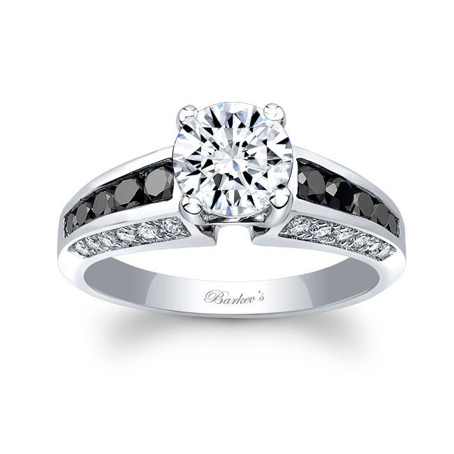 Channel Set Black Diamond Ring Image 1