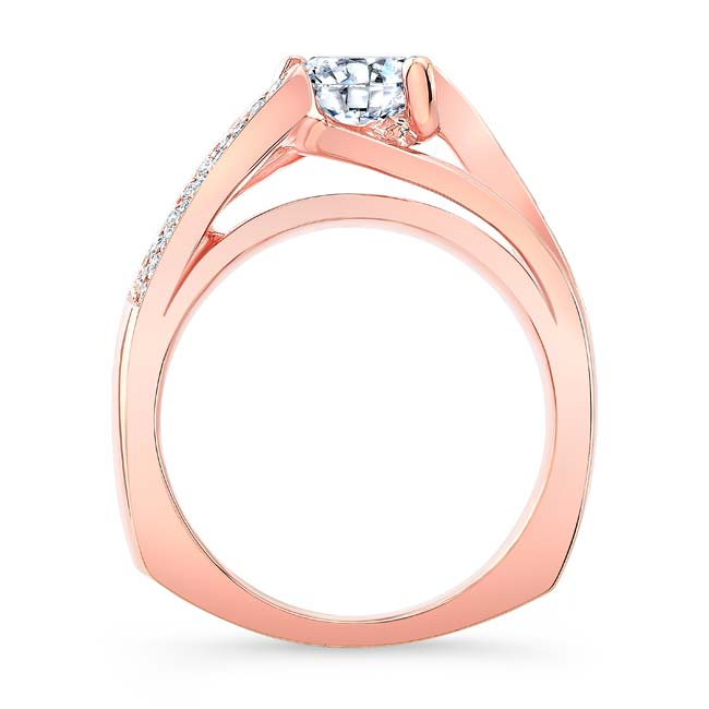 3 Row Diamond Moissanite Ring Image 2