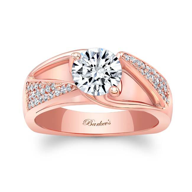 3 Row Diamond Moissanite Ring Image 1