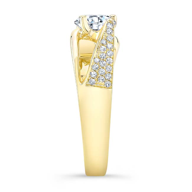 3 Row Diamond Moissanite Ring Image 3