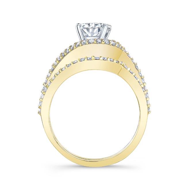 2 Carat Oval Wedding Ring Set Image 2