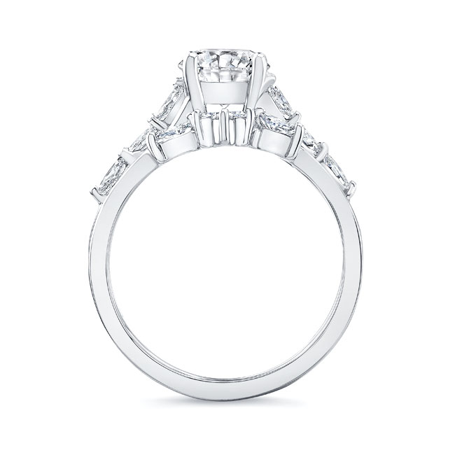Marquise Engagement Ring With Wedding Band Image 2