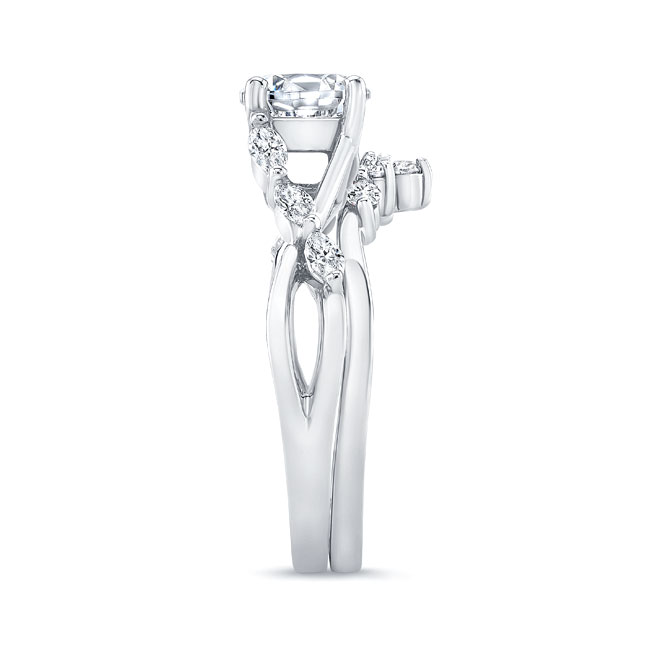Marquise Engagement Ring With Wedding Band Image 3