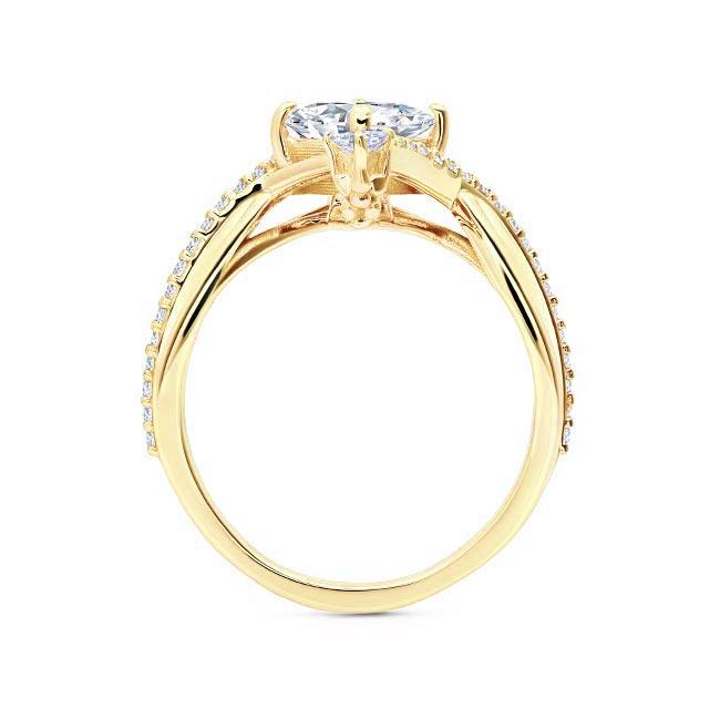 Unusual Moissanite Engagement Ring Image 2