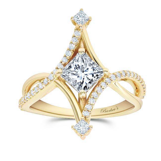 Unusual Moissanite Engagement Ring Image 1