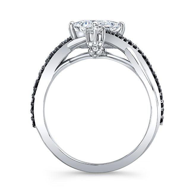 Unusual Black Diamond Engagement Ring Image 2