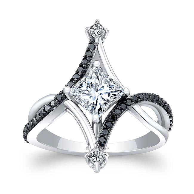 Unusual Black Diamond Engagement Ring Image 1
