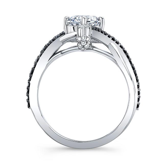 Unusual Round Black Diamond Ring Image 2