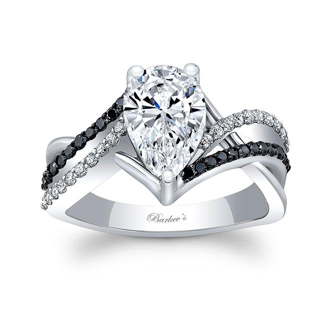 Black Diamond Teardrop Ring Image 1