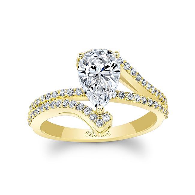 Split Shank Pear Engagement Ring Image 1