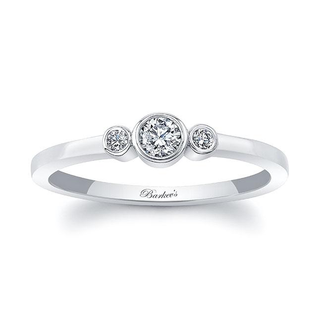 Sophia Three Stone Promise Ring Image 1