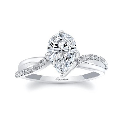 Pear Shaped Engagement Ring With Twisted Band