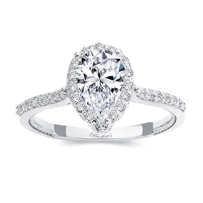 Eva Pear Shaped Halo Ring