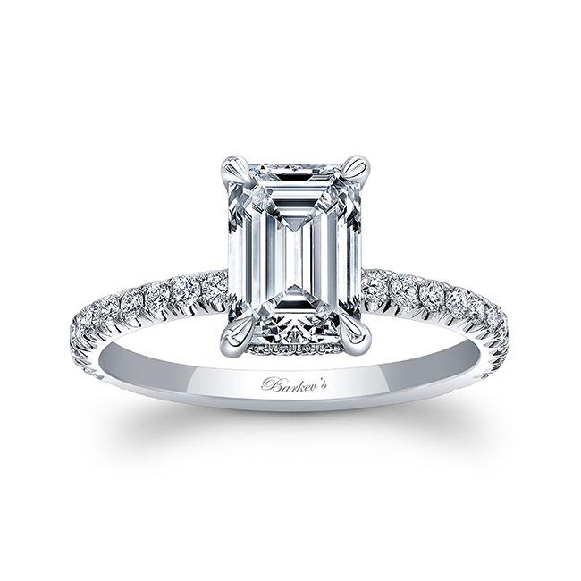 Ella Emerald Cut Diamond Engagement Ring