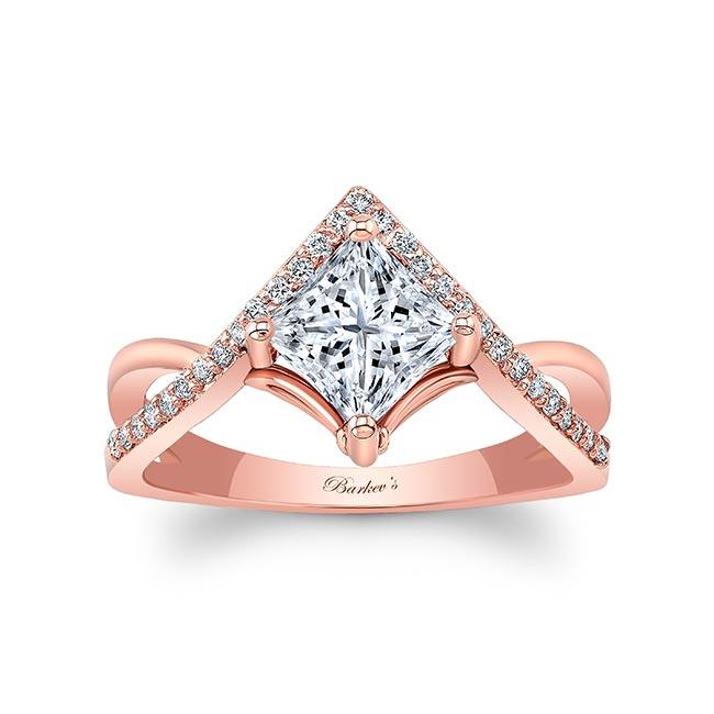 Unique Princess Cut Moissanite Engagement Ring Image 1
