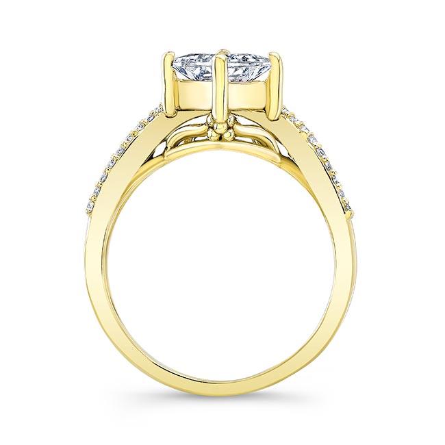 Unique Princess Cut Engagement Ring Image 2