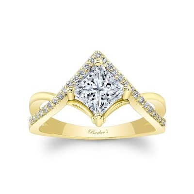 Unique Princess Cut Engagement Ring Image 1