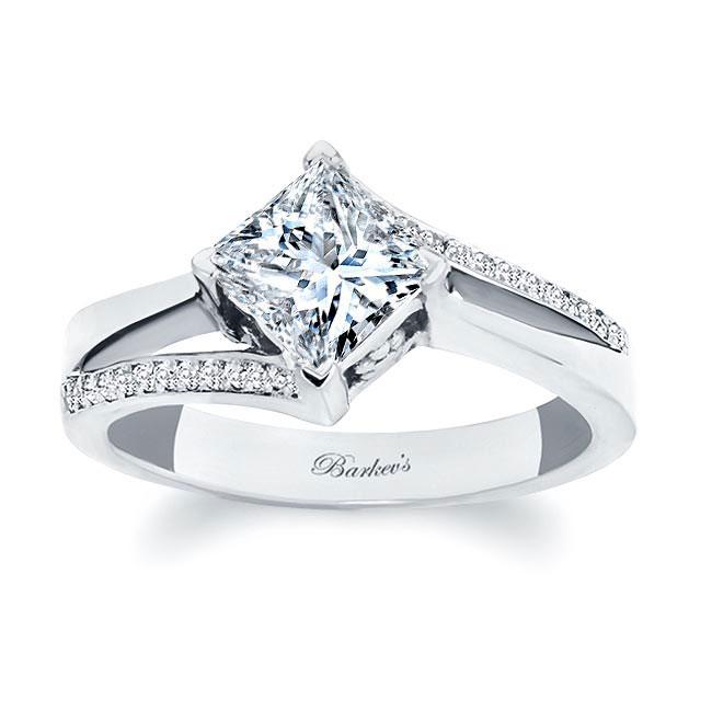Princess Cut Split Shank Ring