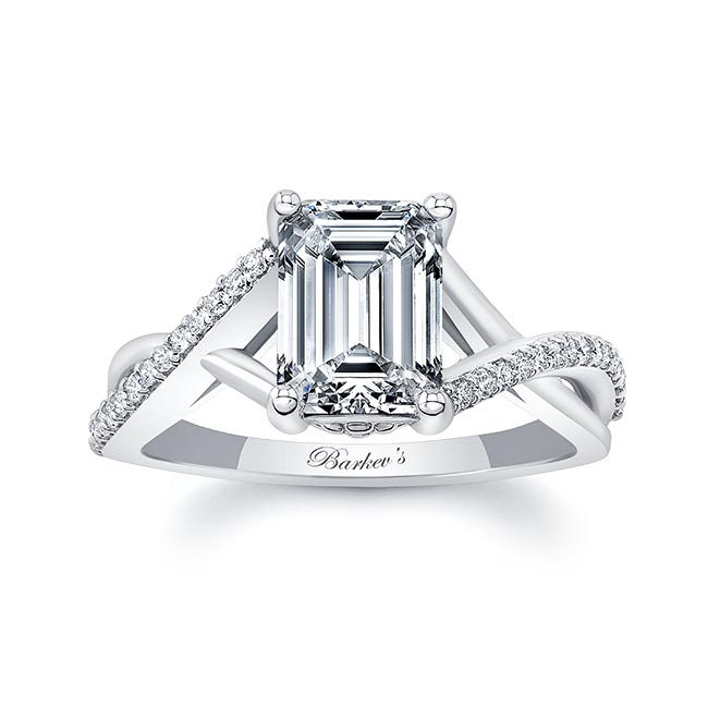 2 Carat Emerald Cut Diamond Ring