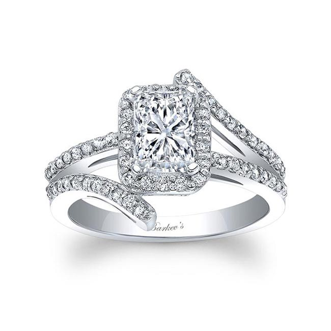 Radiant Cut Halo Engagement Ring
