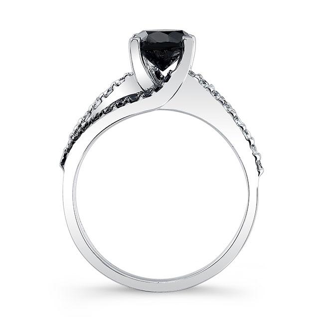 Black Diamond Engagement Ring BC-7677LBK Image 2