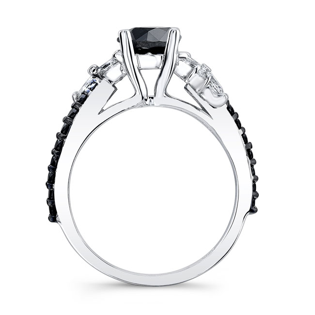 Black Diamond Engagement Ring BC-7968LBK Image 2