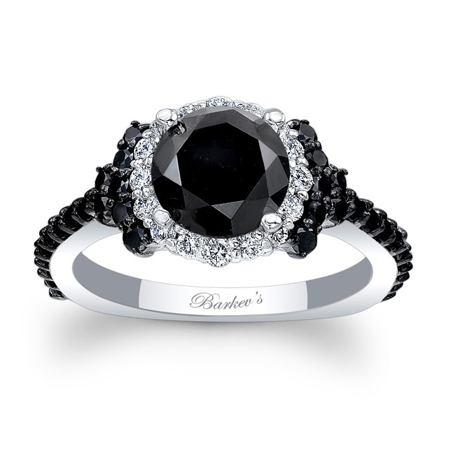 Black Diamond Cluster Ring Image 1