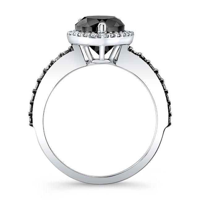 Pear Shape Black Diamond Ring BC-7994LBK Image 2