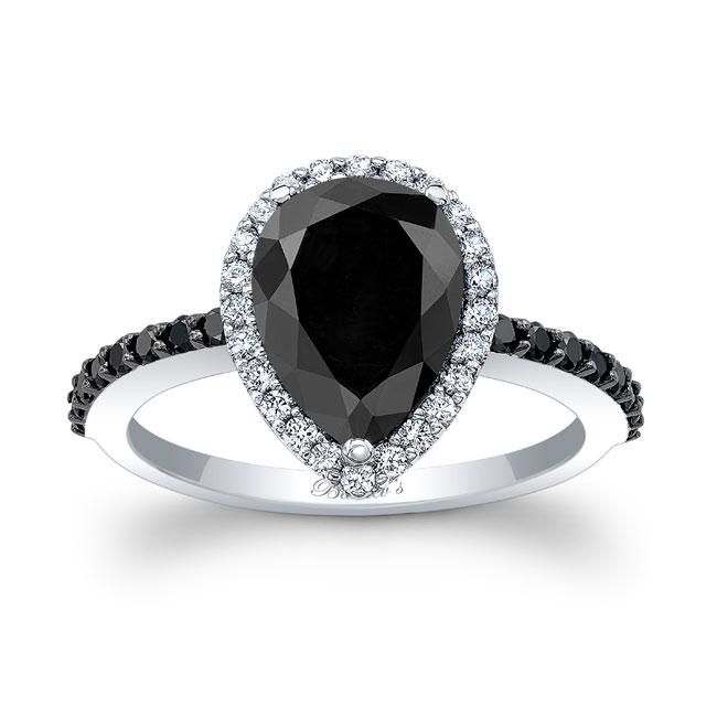 Pear Shape Black Diamond Ring BC-7994LBK Image 1