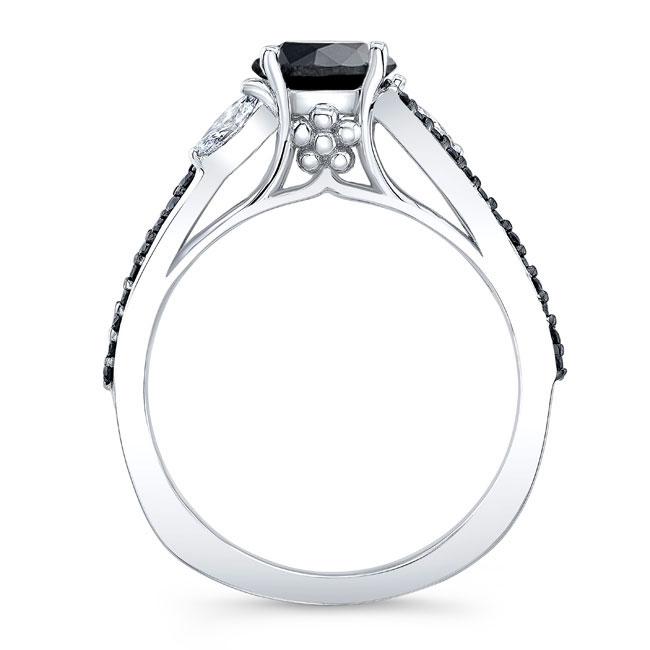 Split Shank Black Diamond Ring Image 2