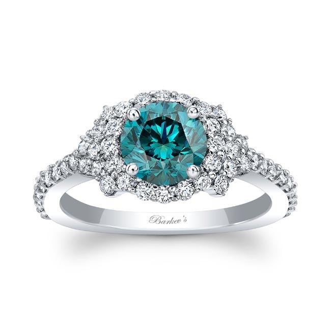 Blue Diamond Cluster Ring Image 1