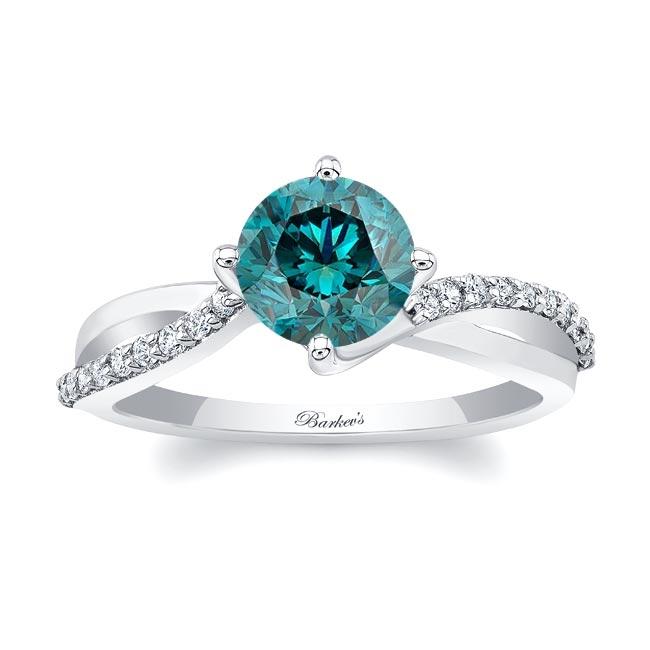 Twisted Blue Diamond Ring Image 1
