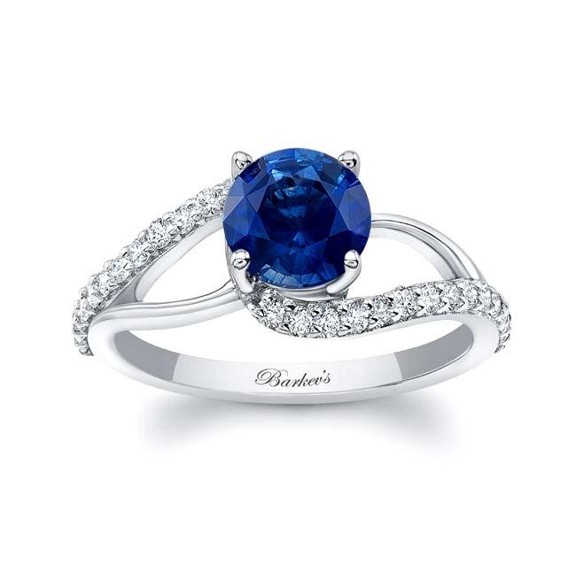 Split Shank Sapphire Ring Image 1