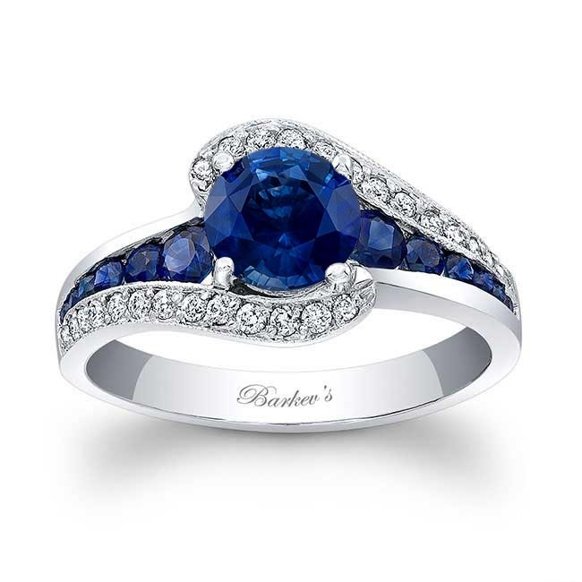Blue Sapphire Engagement Ring BSC-7898LBS Image 1