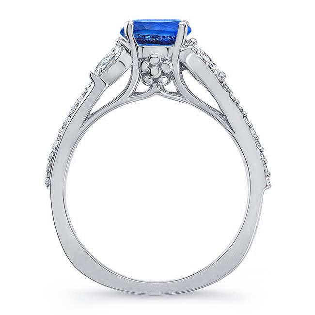 Split Shank Blue Sapphire Ring Image 2