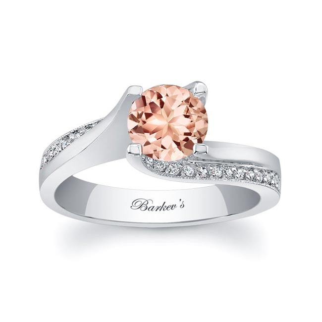 Morganite And Diamond Engagement Ring MOC-7171L Image 1
