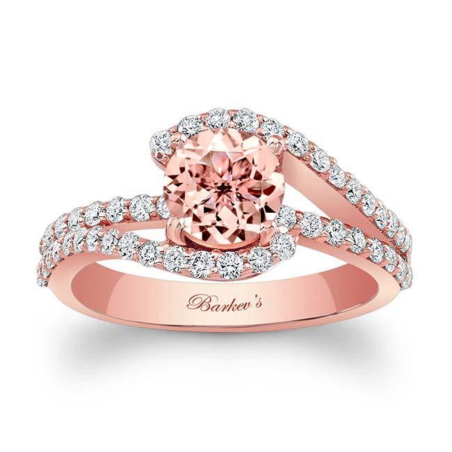 1 Carat Morganite Ring Image 1