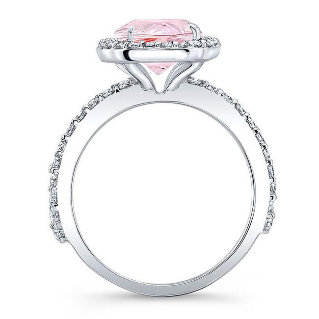 3.5 Carat Oval Morganite Ring Image 2