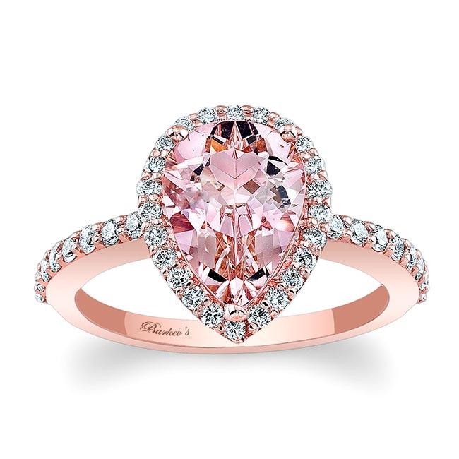 Pear Shape Morganite Engagement Ring MOC-7994L Image 1