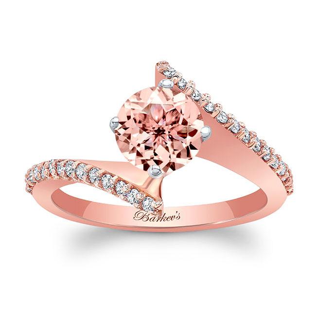 Modern Bypass Morganite Engagement Ring Image 1