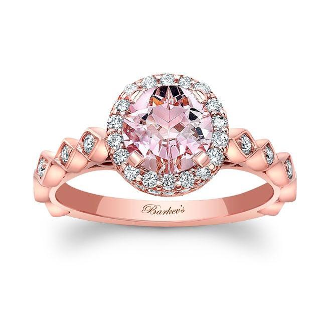 Morganite Engagement Ring MOC-8142L Image 1