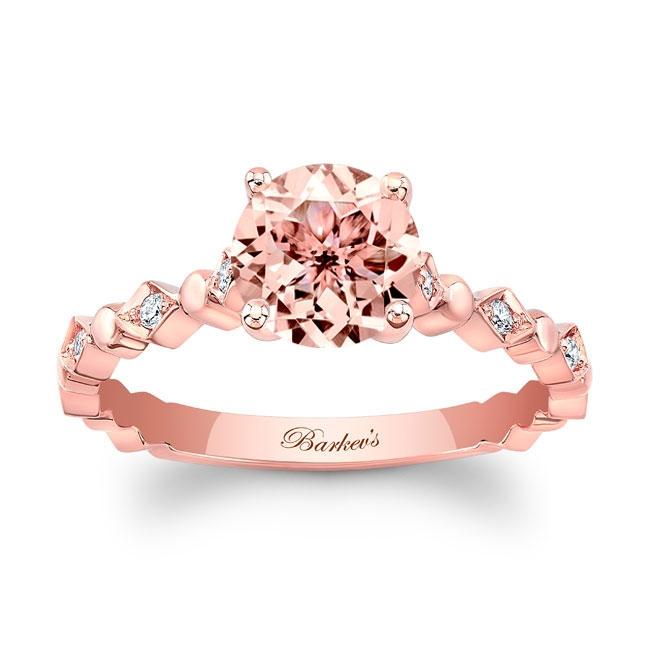 Art Deco Morganite Engagement Ring Image 1