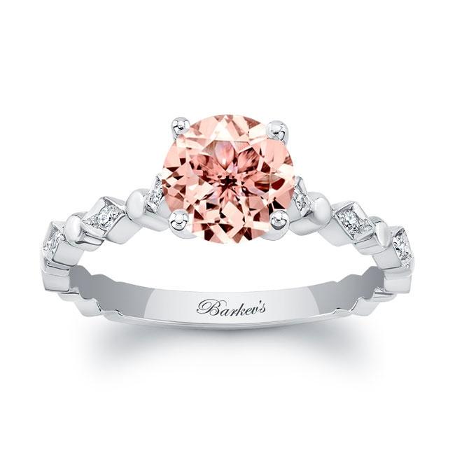 Art Deco Morganite Engagement Ring
